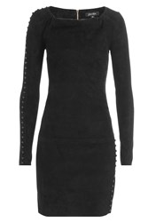 Jitrois Suede Mini Dress Black