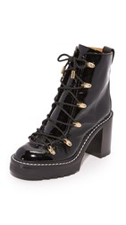Rag And Bone Sanne Lace Up Booties Black
