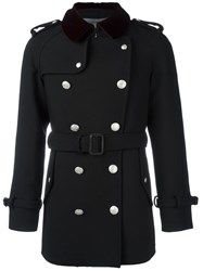 Alexander Mcqueen Double Breasted Peacoat Black