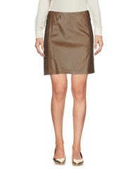 Hotel Particulier Knee Length Skirts Cocoa