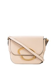 Oscar De La Renta Logo Plaque Shoulder Bag White