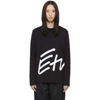 Etudes Studio Black Wonder Sign Long Sleeve T Shirt