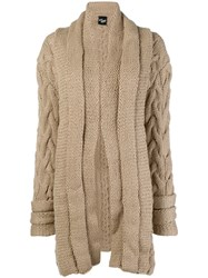Michel Klein Chunky Knit Cardi Coat Brown