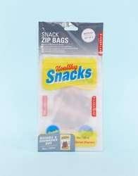 Kikkerland 4 Pack 8Oz Reusable Snack Pouch Clear