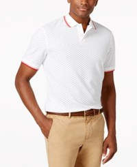 Club Room Harbor Dot Print Polo Only At Macy's Bright White