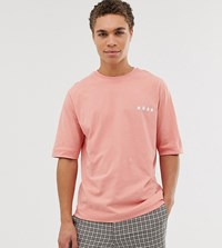 Noak Oversized Fit T Shirt With Logo Pink