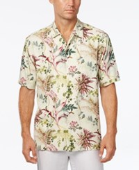 Tommy Bahama Men's Offshore Grove Floral Print Silk Short Sleeve Shirt Continental