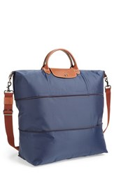 Longchamp 'Le Pliage' Expandable Travel Bag Blue 21 Inch Navy