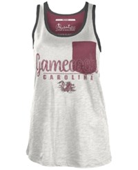 Royce Apparel Inc Women's South Carolina Gamecocks Campbell Pocket Slub Tank White Maroon
