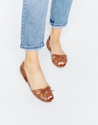 New Look Layer Tan Weave Gladiator Flat Shoes