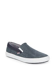 Ben Sherman Percy Slip On Denim Shoes Washed Navy