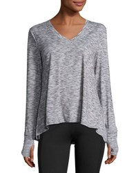 The Balance Collection Terra Long Sleeve Trapeze Tee Blue