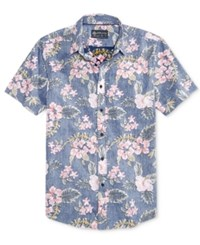 American Rag Men's Tossed Tropics Cotton Shirt Only At Macy's Fresh Indigo