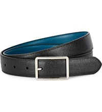 Paul Smith Accessories Saffiano Leather Cut To Fit Reversible Belt Black