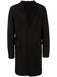 Salvatore Santoro Notched Lapel Coat Black