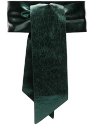 Orciani Wrap Tie Belt Green