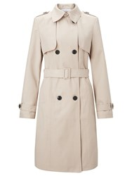 John Lewis Double Breasted Trench Coat Stone
