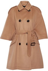Burberry Wool And Cashmere Blend Coat Camel
