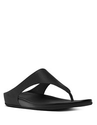 Fitflop Banda Tm Perforated Toe Thong Sandals Black