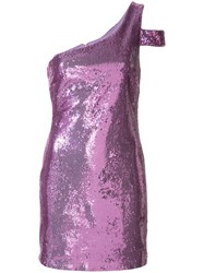 Likely Sequinned One Shoulder Dress Purple