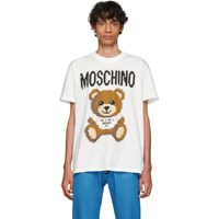 Moschino White The Sims Edition Pixel Teddy T Shirt