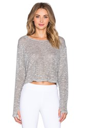 Solow Crop Pullover Gray