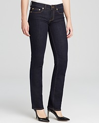 Tory Burch Straight Leg Jeans In Dark Rinse