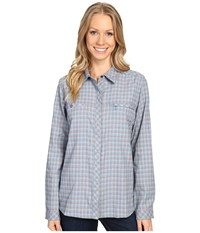 Royal Robbins Performance Flannel Plaid Long Sleeve Cove Women's Long Sleeve Button Up Brown