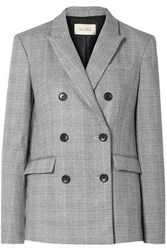 Equipment Femme Woman Tabitha Simmons Hamish Oversized Prince Of Wales Checked Voile Blazer Gray