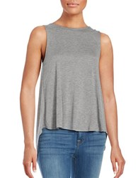 1.State Quilted Split Back Tank Top Soot Heather