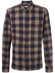 Xacus Checked Shirt Blue