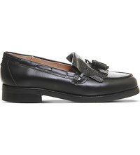 Office Extravaganza Lizard Effect Loafers Black Leather Lizard