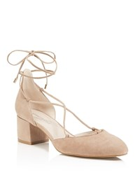 Kenneth Cole Toniann Lace Up Low Heel Pumps Cafe