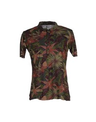 Tanomu Ask Me Topwear T Shirts Men Military Green