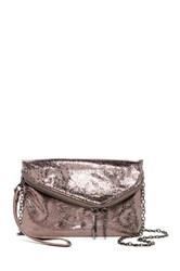 Urban Expressions Lucy Mini Flap Convertible Faux Leather Clutch Metallic