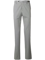 Pt01 Slim Fit Pleated Trousers Grey