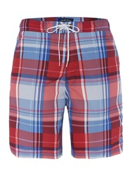 Criminal Check Swim Short Navy And Red