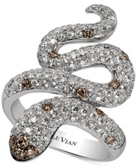 Le Vian Chocolatier Diamond Snake Ring 1 7 8 Ct. T.W. In 14K White Gold