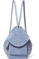 Manu Atelier Fernweh Mini Suede Backpack Blue