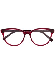 Lacoste Round Frame Sunglasses Red