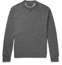 Tom Ford Cashmere And Cotton Blend Sweatshirt Gray