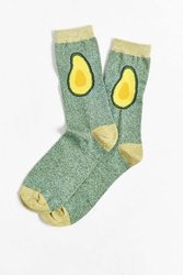 Urban Outfitters Avocado Halves Sock Green