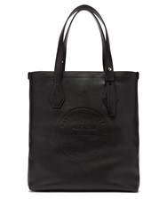 Dunhill Chiltern Logo Debossed Leather Tote Black