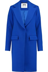 Milly Claudia Wool Blend Coat Blue