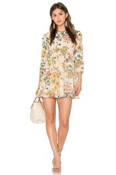 Lucca Couture Madeline Mini Dress Beige