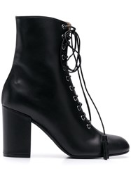 Pollini Lace Up Ankle Boots Black