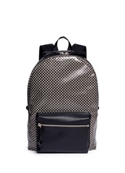 Alexander Mcqueen Mini Skull Dot Print Canvas Backpack Multi Colour