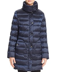 Basler Padded Collar Down Coat Light Blue