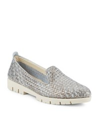 The Flexx Smokin Hot Too Woven Leather Loafers Grey
