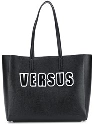 Versus Logo Embroidered Tote Bag Black